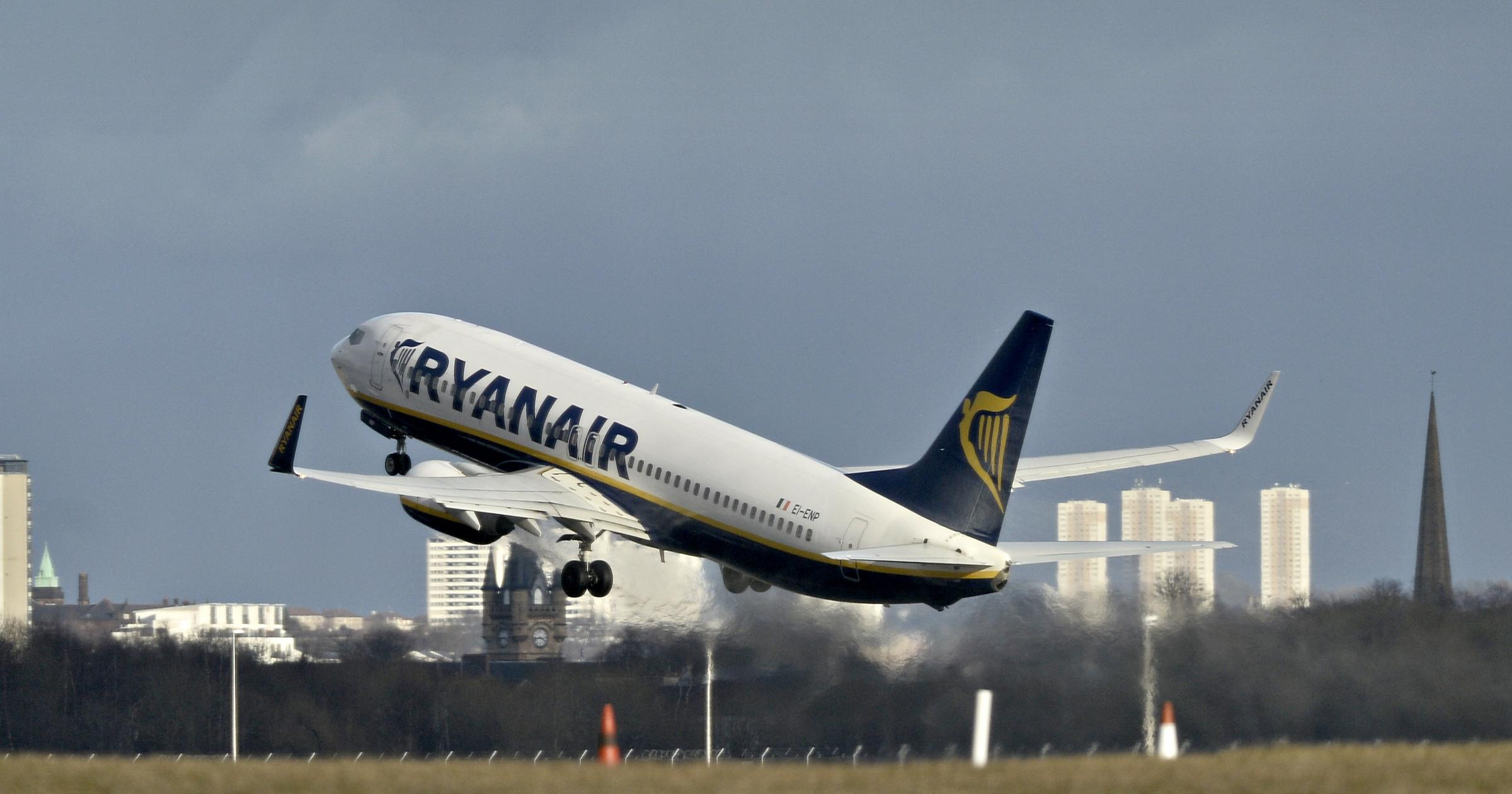 Ryanair cut services from Glasgow Airport in February